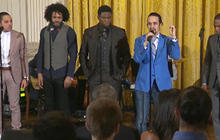 """Hamilton cast performs """"My Shot"""" at White House"""