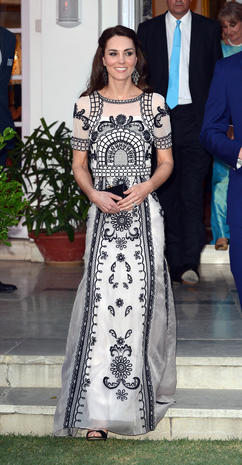Kate's stunning looks in India and Bhutan