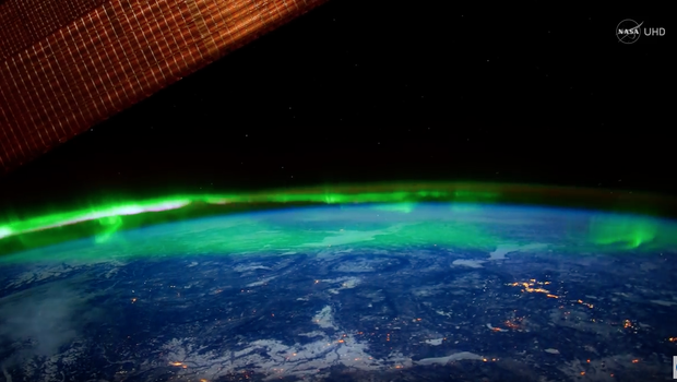 Breathtaking view of the Northern Lights from space in NASA ultra ...