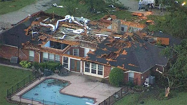 得克萨斯龙卷风损坏