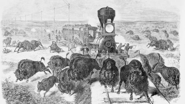 拍摄水牛 - 上的线的最堪萨斯 - 太平洋铁路,1871-620.jpg