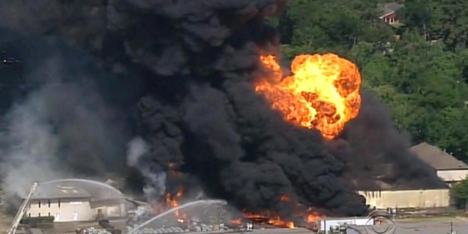 Hazardous chemicals warehouse goes up in flames