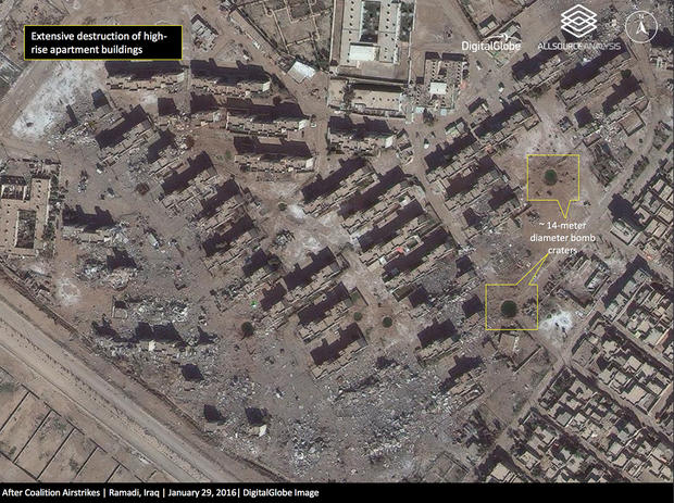 Ramadi iraq reduced to rubble by isis and us coalition airstrikes