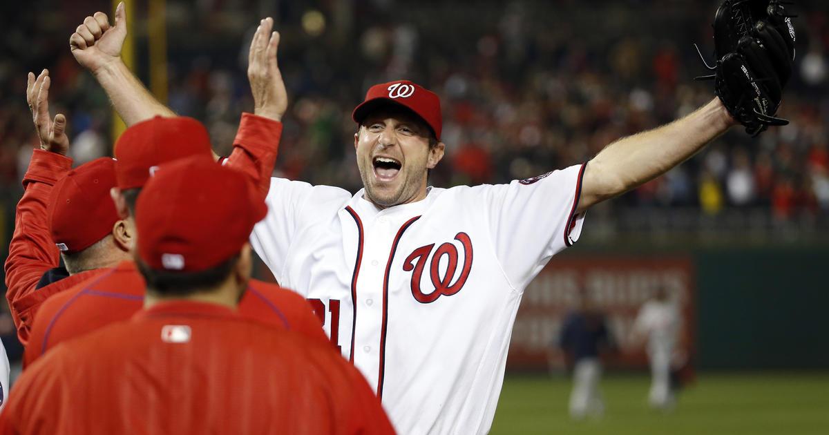 washington nationals pitcher max scherzer has 20 strikeouts, ties mlb record