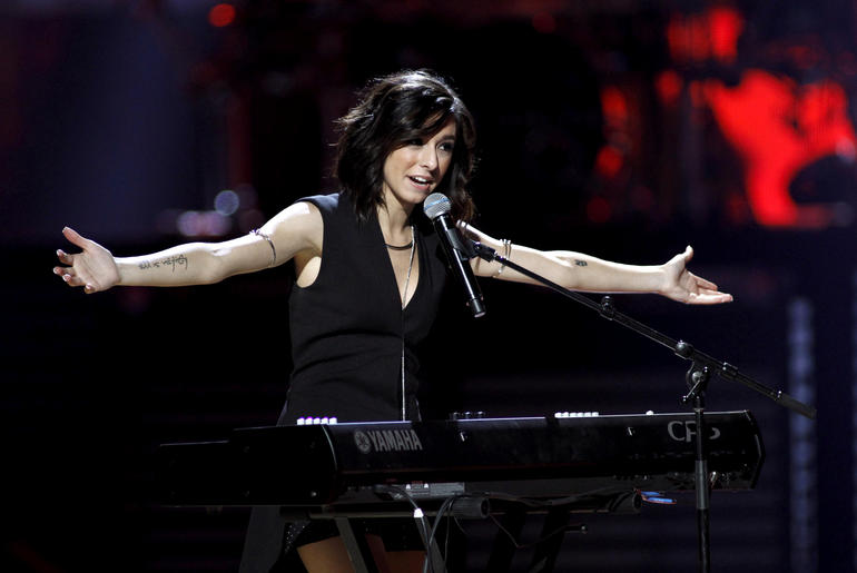 Macy's iHeartRadio Rising Star singer Christina Grimmie performs during the 2015 iHeartRadio Music Festival at the MGM Grand Garden Arena in Las Vegas, Nevada, Sept. 18, 2015.