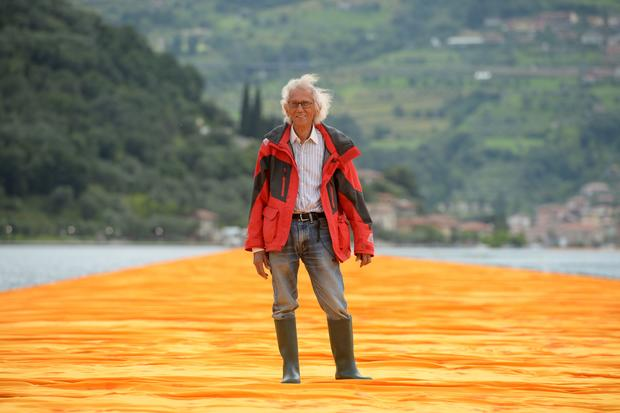 Walking on water with Christo