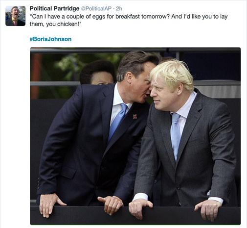 Social media erupts over Boris Johnson