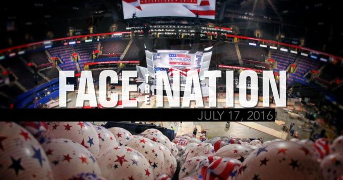 Open: This is Face the Nation, July 17