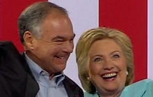 Tim Kaine addresses Clinton supporters as VP pick