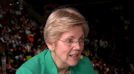 Elizabeth Warren punches back at Donald Trump's jabs