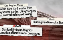 Stanford University bans hard alcohol on campus