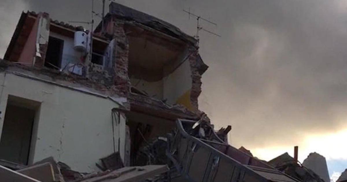 Aftermath of earthquake that hit Italy