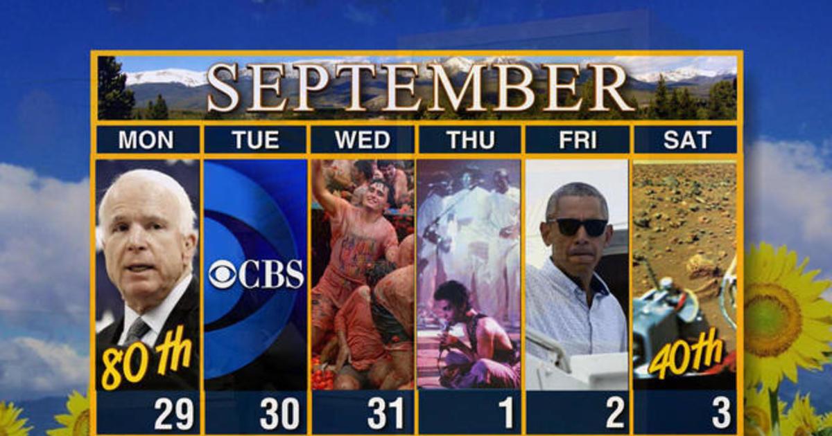 Calendar: Week of August 29