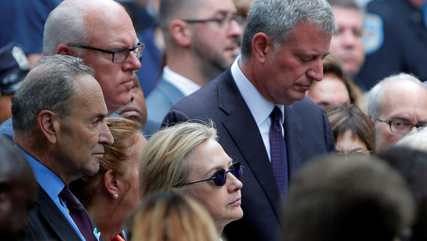 Hillary Clinton not feeling well, leaves 9/11 event early