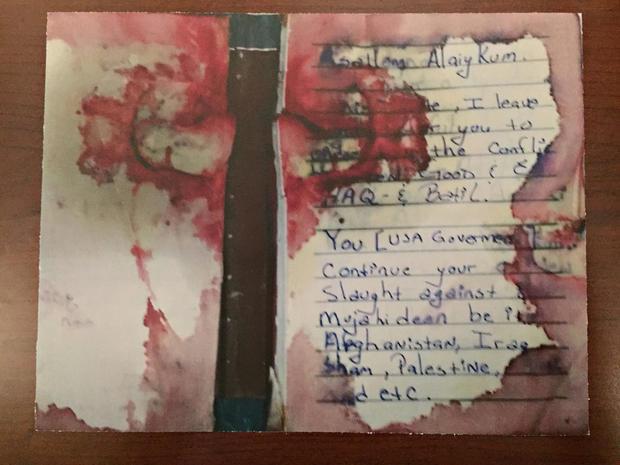 Blood-stained journal of Ahmad Khan Rahimi