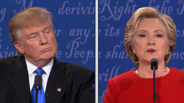 Donald Trump & Hillary Clinton (credit: CBS News)