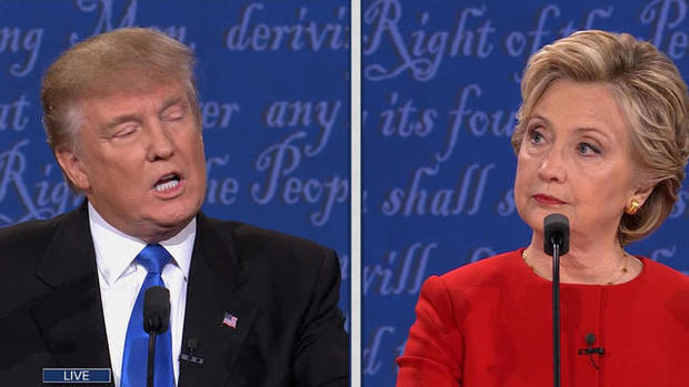 donald trump hillary clinton debate schedule