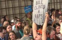 Bill Clinton heckled at rally