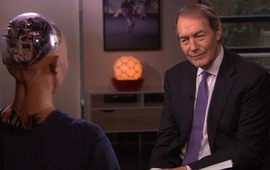 Charlie Rose interviews... a robot?
