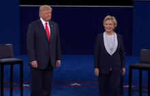 Clinton and Trump get personal in tense debate