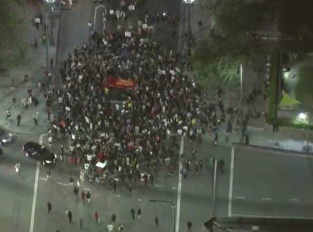 洛杉矶 - 洛杉矶 - 唐纳德 - 特朗普,抗议,2016-11-9.png