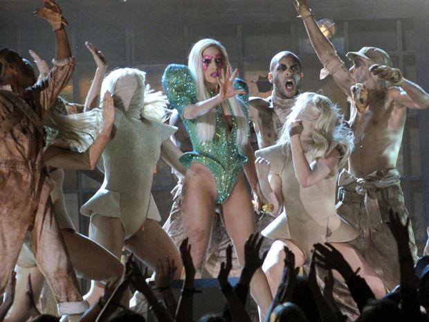 Lady Gaga performs