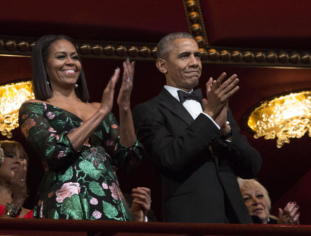 President Barack Obama and first lady Michelle Obama ...