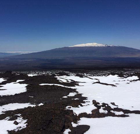 Stunning snow-blanketed Hawaii