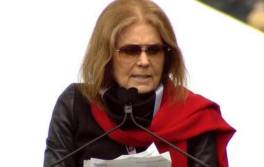 Gloria Steinem speaks at Women's March on Washington