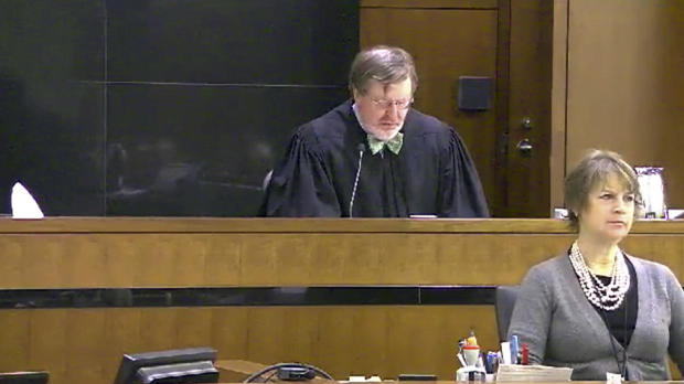 This still image taken from United States Courts shows Judge James Robart listening to a case at the federal courthouse in Seattle on March 12, 2013, in Seattle.