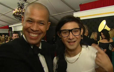 Skrillex interview on the red carpet