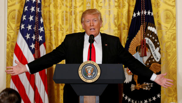President Trump speaks during a news conference at the White House in Washington Feb. 16 2017.                                               Reuters  Kevin Lamarqu