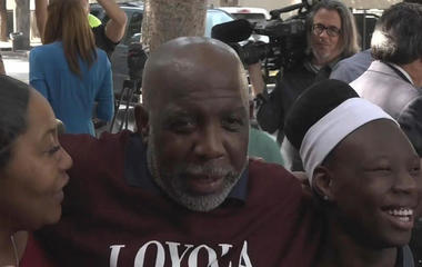 Wrongfully convicted man reunited with family after decades behind bars