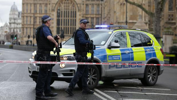 Gunfire reported outside UK Parliament in London