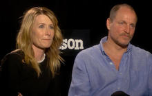 Woody Harrelson and Laura Dern get political