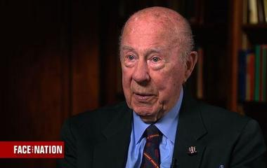 George Shultz on Secretary Tillerson's decision to leave behind travel corps