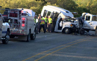 13 killed after truck crashes into church bus