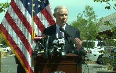 Jeff Sessions visits U.S.-Mexico border, announces new immigration enforcement