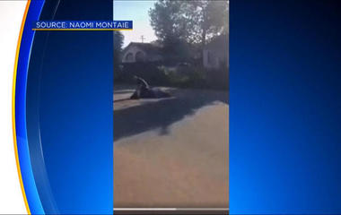 Cellphone video shows officer taking down alleged jaywalker