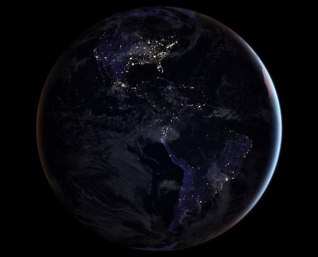 170413  - 美国航天局地球夜间americas.jpg