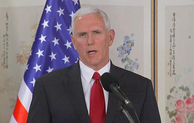 VP Pence visits DMZ and warns North Korea