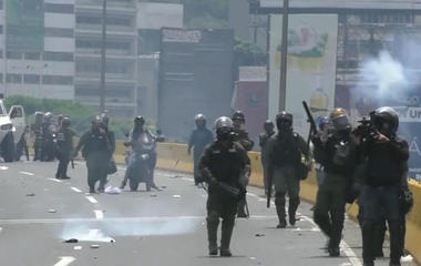 Unrest in Venezuela as anti-government protesters take to the streets