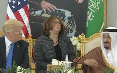 President and first lady start overseas trip in Saudi Arabia