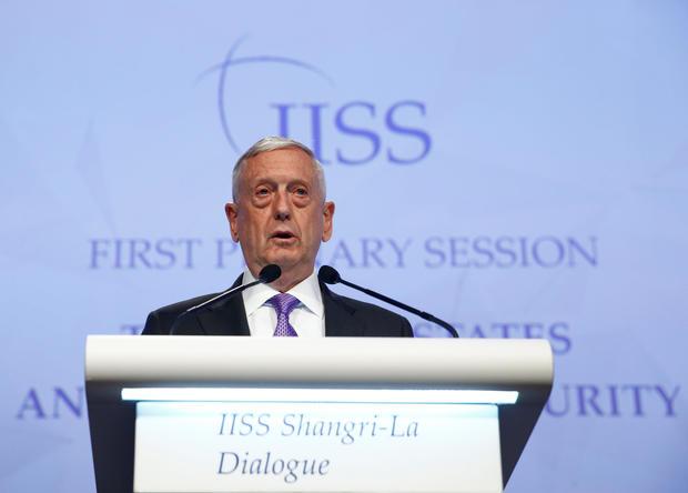 China upset at James Mattis'