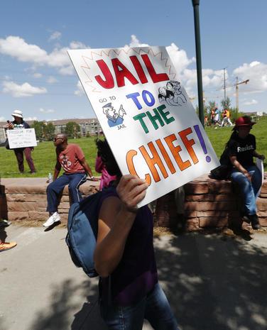 "Anti-Trump protesters ""March for Truth"""