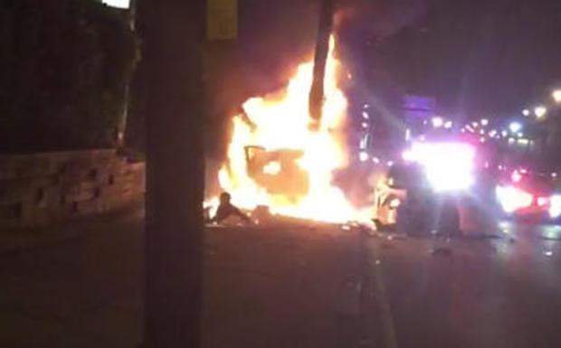 新泽西州的城市警察追车,司机上火0617.jpg