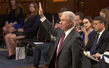 Sessions denies conversations with Russians about election interference