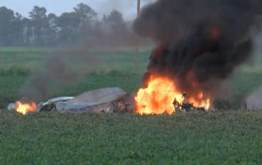 16 dead after military plane crashes in Mississippi
