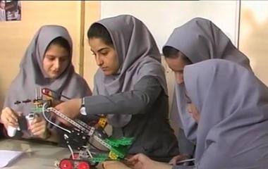 Afghan girls in U.S. robot olympics despite visa issues