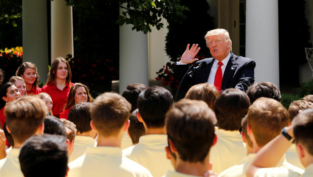 Trump Speaks With American Legion Girls and Boys Nation